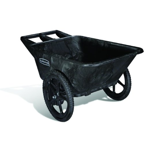 Rubbermaid Commercial Big Wheel Yard Cart, 3.5 cu. feet, 300 lb. Capacity, Black (FG564261BLA)