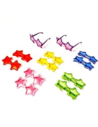 Star Shaped Sunglasses Set of 12 Star Sunglasses in Assorted Colors Sized for Kids