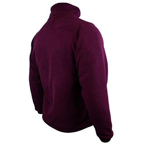Calda burgundy Invernale Con Gamma Da Pelucchi Chill Pile Zip In Uomo Giacca Lavoro Anti qrqZnHATw