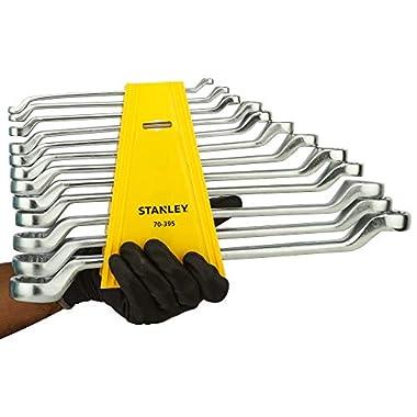 STANLEY 70-394E Matte Finish Shallow Offset BI HXRing Spanner Set (12-Pieces), Chrome 14