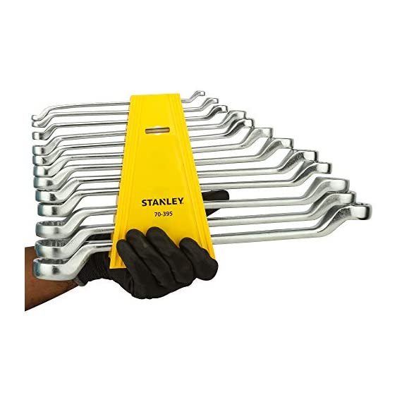 STANLEY 70-394E Matte Finish Shallow Offset BI HXRing Spanner Set (12-Pieces), Chrome 7