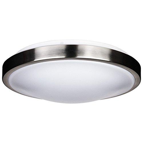 LB72115 LED Flush Mount Ceiling Lighting, Antique Brushed Nickel, 12-Inch 4000K Cool White, 1050 Lumens, Energy Star Dimmabel