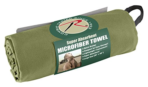 Rothco Microfiber Towel, Olive Drab, 30