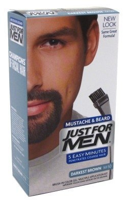 Just For Men Brush-In Color Mustache & Beard - Darkest Brown