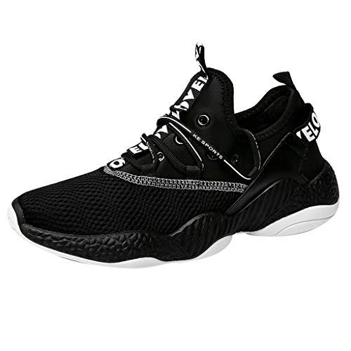 (JJLIKER Comfortable Athletic Shoes Casual Sneakers Knit Running Shoes Tennis Shoe Walking Baseball Jogging for Men)