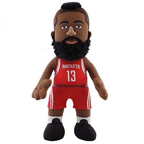 NBA Houston Rockets James Harden Player Plush Doll, 6.5-Inch x 3.5-Inch x 10-Inch, Red