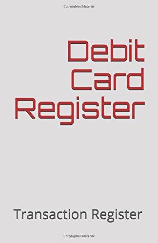 Download Debit Card Register: Transaction Register pdf epub