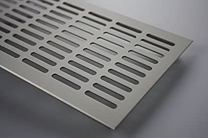 E6C31 Acier inox anodis/é MS Beschl/äge Grilles de Ventilation T/ôle d/âme ventilation en Aluminium 130mm x 300mm En diff/érentes Couleurs