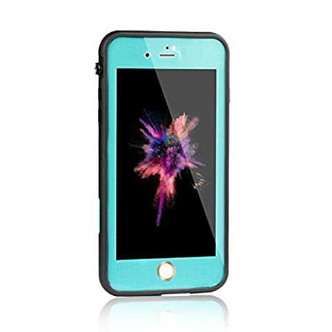 Meritcase iPhone 7 Waterproof Case (Blue, 4.7 inch) (Blue Waterproof Iphone Case)