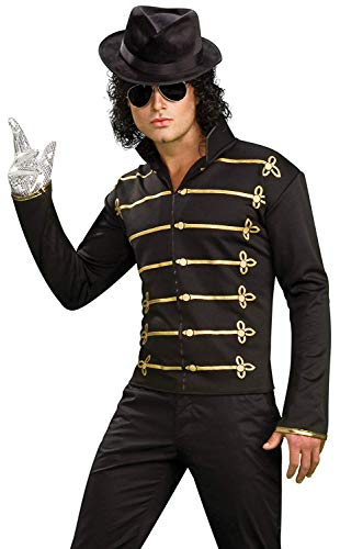 Michael Jackson Costume For Halloween (Michael Jackson Military Printed Jacket, Adult Medium)