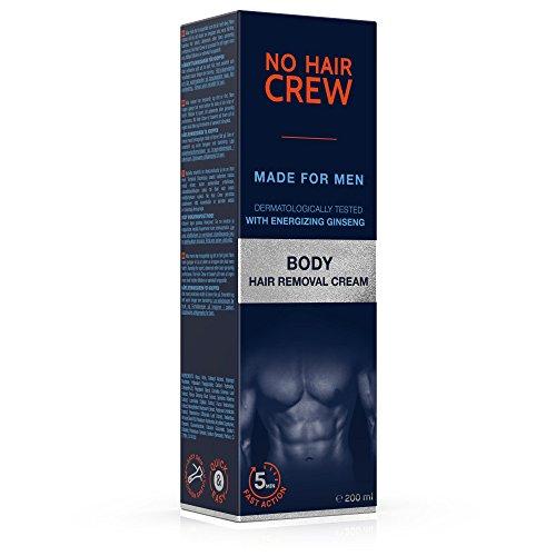 NO HAIR CREW Crema Depilatoria Corporal Premium Masculina - Hecha para Hombres 200 ml: Amazon.es: Salud y cuidado personal