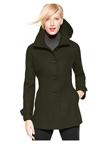 (Kenneth Cole REACTION Hooded Peacoat, Alpine Green, (8))