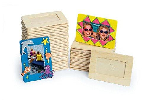 Colorations Wooden Frame Classroom Pack - Set of 50 (Item # - Wooden Frames Craft