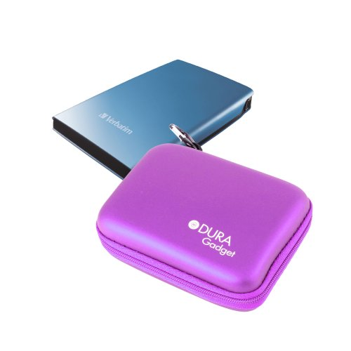 DURAGADGET Protective Case with Soft Lining - Suitable for Verbatim 53001 320GB Store 'n' Go|53023 1TB|53030 500GB GT Racing|47478 128GB/47477 64GB SATA II 3GB/s Internal SSD|47527 1.5TB