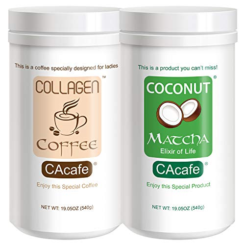- CAcafe Collagen Coffee and Coconut Matcha Tea Variety 2 Pack