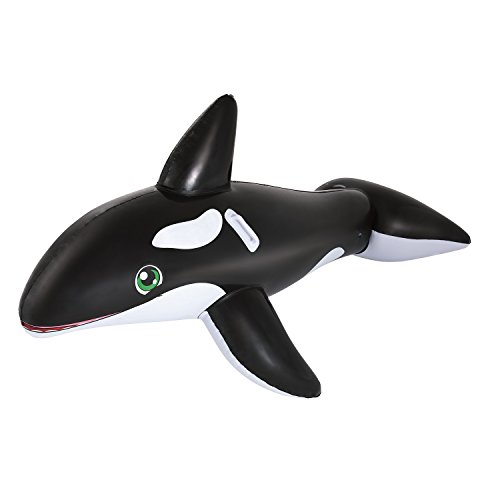 H2OGO! Jumbo Whale Rider Inflatable Pool Float Whale Inflatable Pool