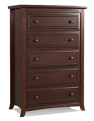 Graco Kendall 5 Drawer Chest, Cherry - Pine 5 Drawer Dresser