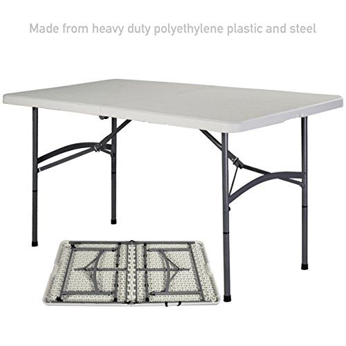 Heavy Duty Construction Light-weight Portable 6' HDPE Folding Table Indoor-Outdoor Laptop Desk Picnic Camp Party Dining Table # (Target Plastic Table)