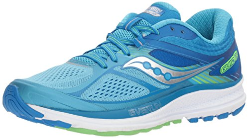 Saucony Women's Guide 10 Running Shoe, Light Blue/Blue, 9.5 M US (Womens Type Saucony)