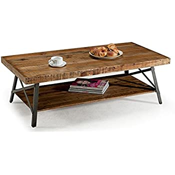 Amazon Com Winsome Genoa Rectangular Coffee Table With Glass Top And Shelf Kitchen Amp Dining