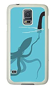 fun Samsung S5 cover Squid Loch Ness Monster Funny Picturess PC White Custom Samsung Galaxy S5 Case Cover
