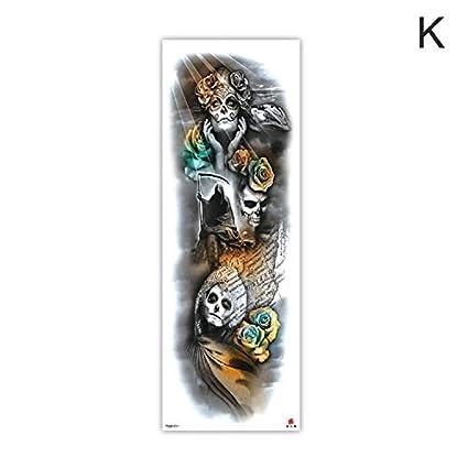 HXMAN 3 Unids Brazo Manga Tatuaje Boceto León Tigre Impermeable ...