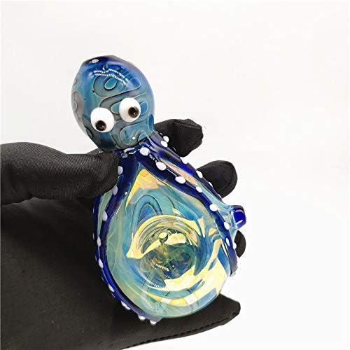 xuzhao25 Handmade 4.5Inch Octopus Shape Glass Art Random Color