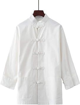 AGWa Juventud Estilo chino Wing Chun Artes marciales Taiji Kung Fu Camisa Algodón Lino Tang Traje Traje de caballo Traje de ropa,Camisa blanca,180cm: Amazon.es: Bricolaje y herramientas