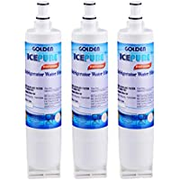 Golden Icepure 4396508 Refrigerator water filter replacement for Whirlpool 4396508, 4396510,Filter 5,EDR5RXD1,NL240V,WFL400 3 PACK