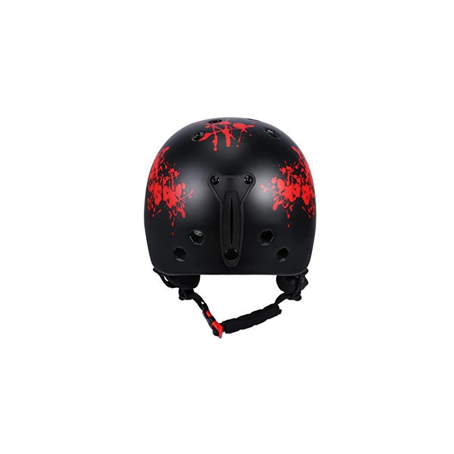 SUNVP Super Lightweight Ski Snowboard Helmet Durable One Mold Design Skiing Skating Helmet with Removable Washable Lining Chin Pad and Earmuff for Adult Youth Professional Outdoor Sports