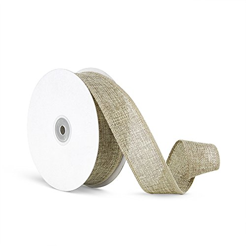 Craft Faux Burlap Jute Wired Ribbon, 1.5 Inches