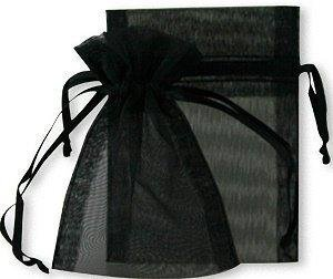 50 Black jewelry wedding organza gift bags 10x15cm distribute and sold by JOYDIY