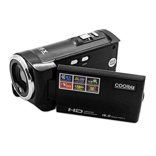 Digital Video Camcorder Camera,Hosamtel HDV-107 HD 720P 16MP DVR 2.7'' TFT LCD Screen 16x ZOOM with 16G memory - Extreme For Sunglasses Sensitivity Light