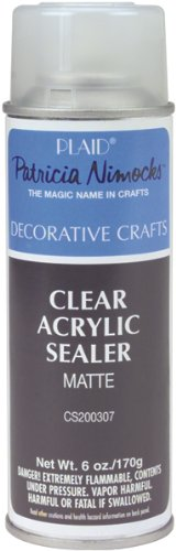 Plaid Craft Clear Acrylic Sealer Aerosol Spray (6-Ounce), CS200307 Matte