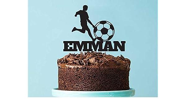 Decoración para tarta de balón de fútbol | Personalizado