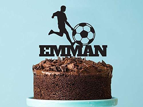 Queen54ferna - Decoración para Tarta de cumpleaños de fútbol ...