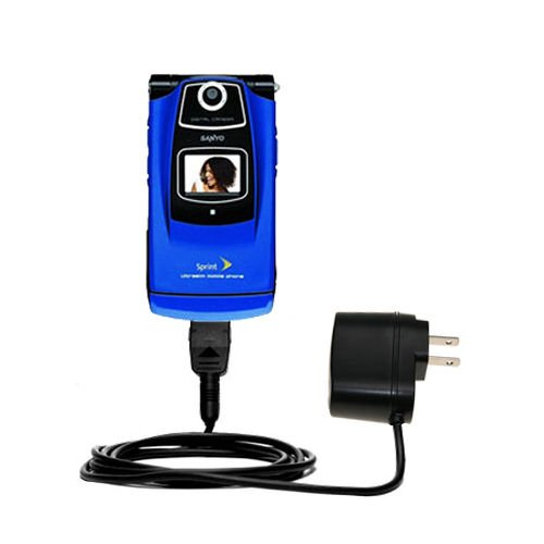 Gomadic High Output Home Wall AC Charger Designed The Sanyo Katana SCP 6600 Power Sleep TipExchange ()