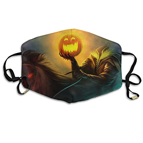 The Headless Horseman Pumpkin Unisex Facemask Ear-loop Dust Protecting Mask Cycling Reusable (Headless Horseman Pumpkin)