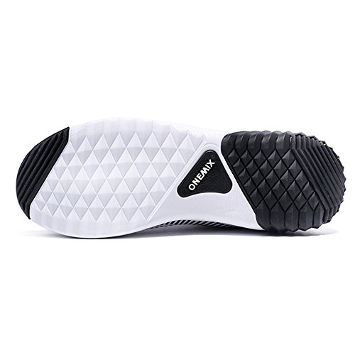 OneMix Cushion Shoes Lightweight Air Sport Running Men's Black Trail and White Women's BXzOqXrg
