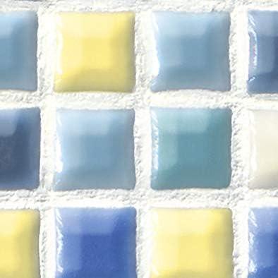 メラミン化粧板 バリエーション LJ-10163K 4x8 スクエアモザイク(ブルー)