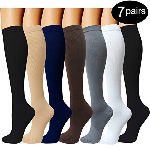 Compression Socks For Men & Women - 4Pairs - Best for Runnin