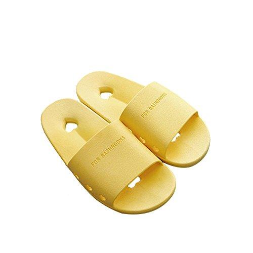 Tellw Uomini E Donne Estate Casa Pantofole Pantofole Antiscivolo Interni Bagno Pantofole Signore Pantofole Perdita Di Colore Giallo