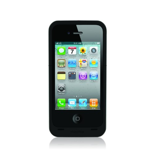 Mophie 1,500mAh Juice Pack 'Air' Battery Case for Apple iPhone 4/4s - Black (Certified Refurbished)