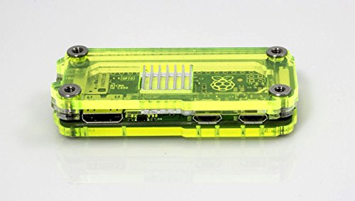 Zebra Zero for Raspberry Pi Zero & Zero Wireless - Laser Lime w Heatsinks by C4 Labs (Image #4)