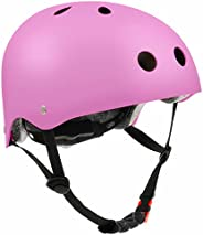 Skateboard Helmet, Bike Helmet for Kids Youth Adult CPSC Certified, Adjustable for Multi-Sport Skateboard, Sco