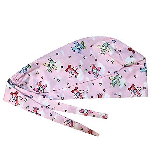 Surgical Cap Adjustable Scrub Cap Sweatband Medical Doctor Nurse Bouffant Cap Turban Cap Scrub Hat Head Cover for Women Men