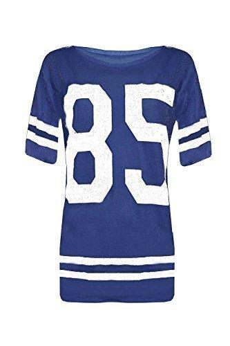 Outofgas Clothing-Maillot de vélo Baggy extra large Baseball américain large pour femme Imprimé 85 T-Shirt