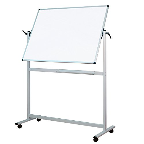 Lockways Reversible Magnetic Mobile Whiteboard - 3 X 4 Double Sided Dry Erase Whiteboard , Office Dry Erase Board 48'' X 36'' , Anti-scratch Aluminum Frame U12415211425 for Office & School(48''x36'') by Lockways