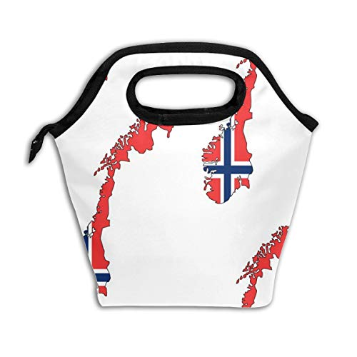 Norwegian Flag Overlay Large_1093 Lunch Bag Insulated Lunch Box Reusable Lunch Tote Cooler Organizer Bag Lunch Bags for Women,Men and Kids Adults