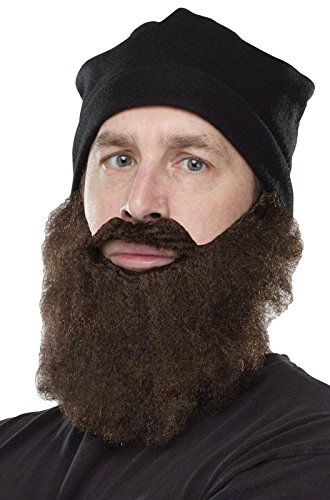 Duck Hunter Costumes (Fun World Duck Hunter Disguise, Knit Cap and, Brown Beard, One Size Costume)